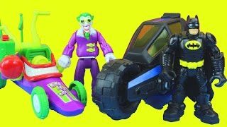 Joker's Dream with Batman Batcycle Joker Funny car Captain America Thor Wolverine Spider-man