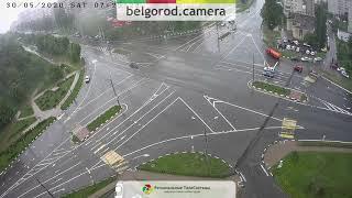 Фото ДТП при проезде на запрещающий сигнал светофора.