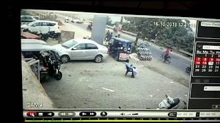 Sai Nadi Pul Ke Paas Hui accident ki ghatna CCTV camera me record