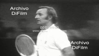 Ilie Nastase derrota a Rod Laver en el Abierto Tenis de Boston 1973