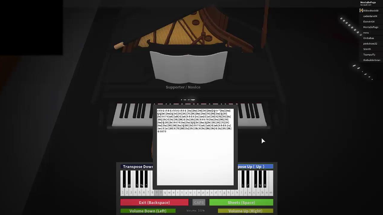 Sheets Lavender Town Roblox Virtual Piano