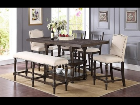 Xcalibur Counter Height Dining Table In Espresso By Winners Only