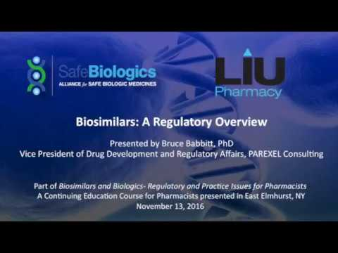 LIU-Pharmacy CE Course: 11/13/16 Part IV: Regulatory Overview