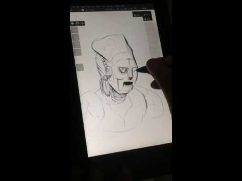 Asus Vivotab Note 8 - Photoshop drawing test