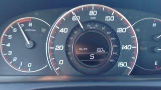2013 - 2014 Honda Accord CVT Race 0-60 Test Drive