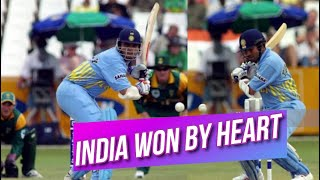 India won by heart against South Africa 3rd ODI Triangular Series 2001