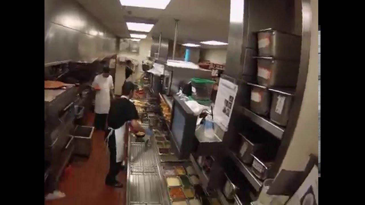 Very Popular Pizza Restaurant Kitchen Dinner Service Time Lapse