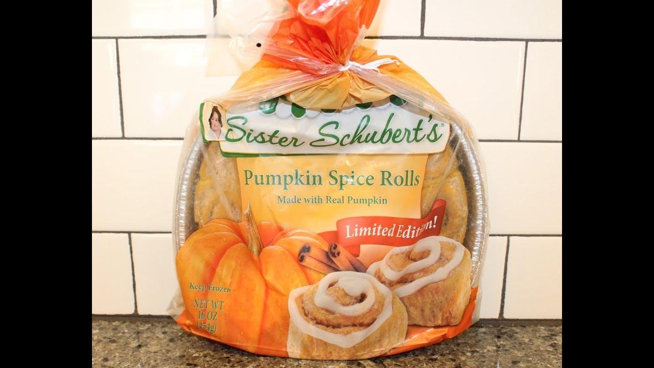 Sister Schubert S Pumpkin Spice Rolls Review Youtube