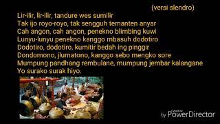 Tembang (Lir-ilir) gamelan kyai kanjeng Slendro & Pelog