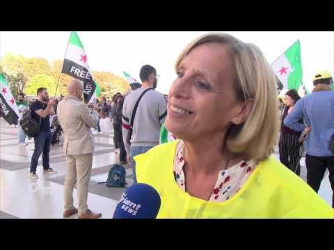 وقفة احتجاجية في باريس تنديداً بجرائم ميليشيا أسد والاحتلال الروسي  - 14:52-2018 / 9 / 16