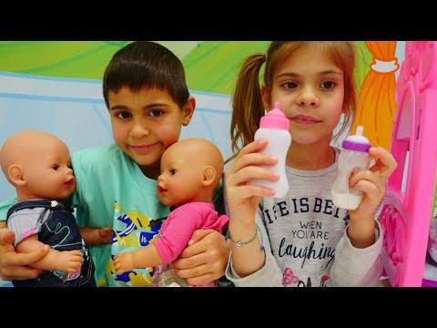 Eğlenceli video. Mikail ve Elis bebek bakıcısı oluyorlar