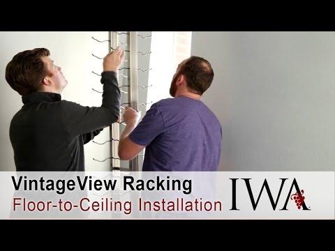 Vintageview Floor To Ceiling Wine Racks Installation Youtube