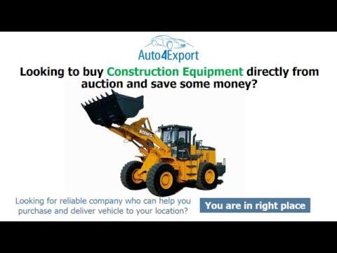 Construction Equipment Export USA - Auto4Export