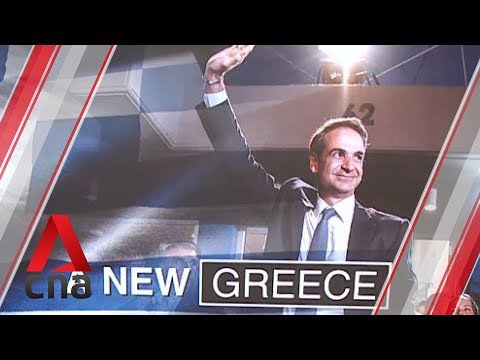 Kyriakos Mitsotakis sworn in as Greece's new prime minister