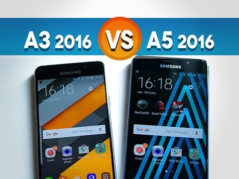 galaxy a3 2016 vs galaxy a5 2016 quelles diff rences youtube. Black Bedroom Furniture Sets. Home Design Ideas