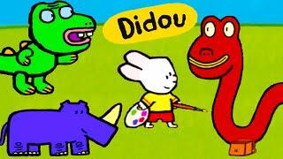 Didou, dessine-moi des animaux effrayants: le Monstre du Loch Ness, un Dragon et un Rhinocéros