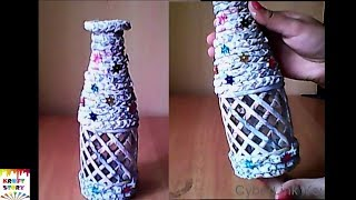 DIY Bottle decoration idea | Best out of waste | Plastic bottle craft idea