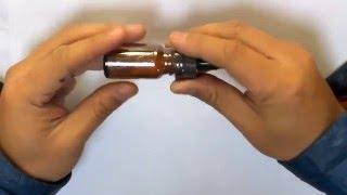 Shrink film for 15ml glass e-liquid dropper bottles