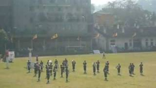 Dharmaraja college Western band formation display (2009 sports meet)