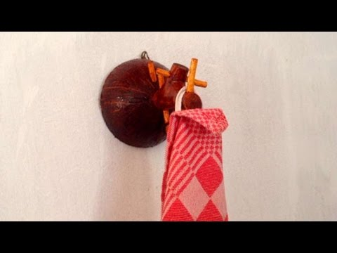 How To Recycle A Coconut Shell Into A DishTowel Holder - DIY Home Tutorial - Guidecentral