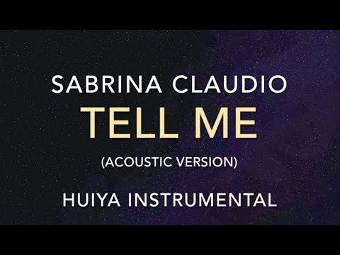[Instrumental/karaoke] Sabrina Claudio - Tell Me (Acoustic ver.) [+Lyrics]