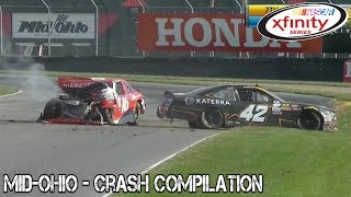 Nascar Xfinity Series - 2017 - Mid-Ohio - Crash Compilation