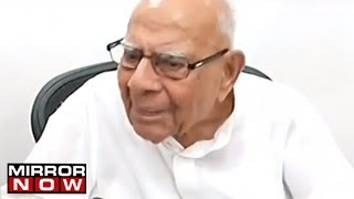 Famous Lawyer Ram Jethmalani Talks With Mirror Now | Exclusive