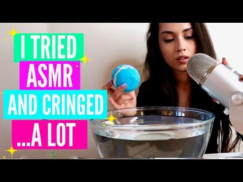 I TRIED ASMR // EATING RAW HONEYCOMB, BATH BOMB SIZZLES, CHEWY AND CRUNCHY ASMR + SLIME ASMR & MORE!