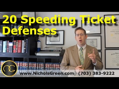 20 Speeding ticket defenses - Traffic attorney explains how to beat a speeding ticket
