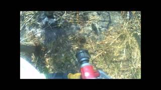 OSP Obryte dojazd do pożaru lasu i akcja gaszenia (GoPro)