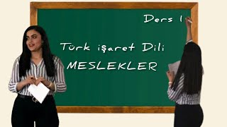 Türk İşaret Dili- Meslekler