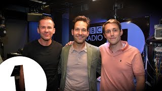 Paul Rudd 'does bits' with Scott and Chris on Radio 1