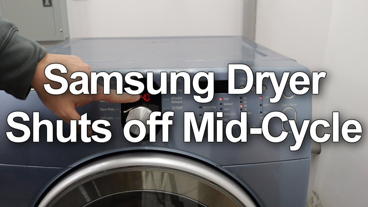 SOLVED: My samsung dryers lights come on but the dryer is