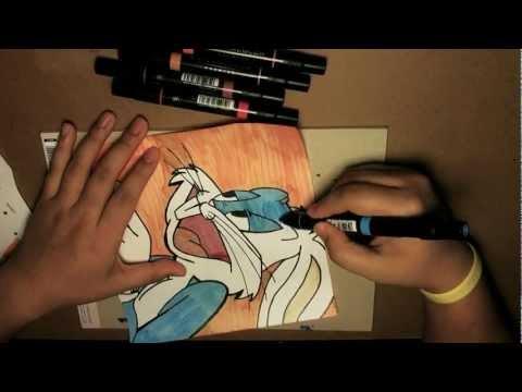 Pop Art Drawing - BUGS BUNNY [Bleebo ART]