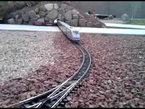 LGB Amtrak 'ICE' train that splits in half at speed