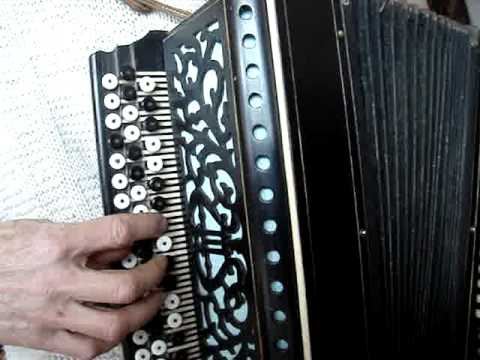 Antique Bajan Accordion - beautiful instrument for sale - old melody