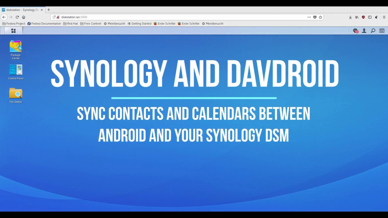 How to setup DAVx5 with Synology DSM (Android Calendar/Contacts sync)
