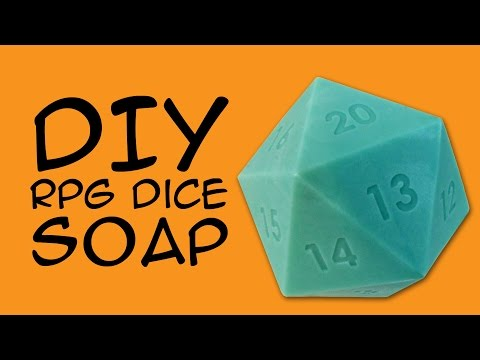 DIY SOAP - d20 RPG Dice Soap Craft: (RPG Fandom) a CraftyMcFangirl.com Tutorial
