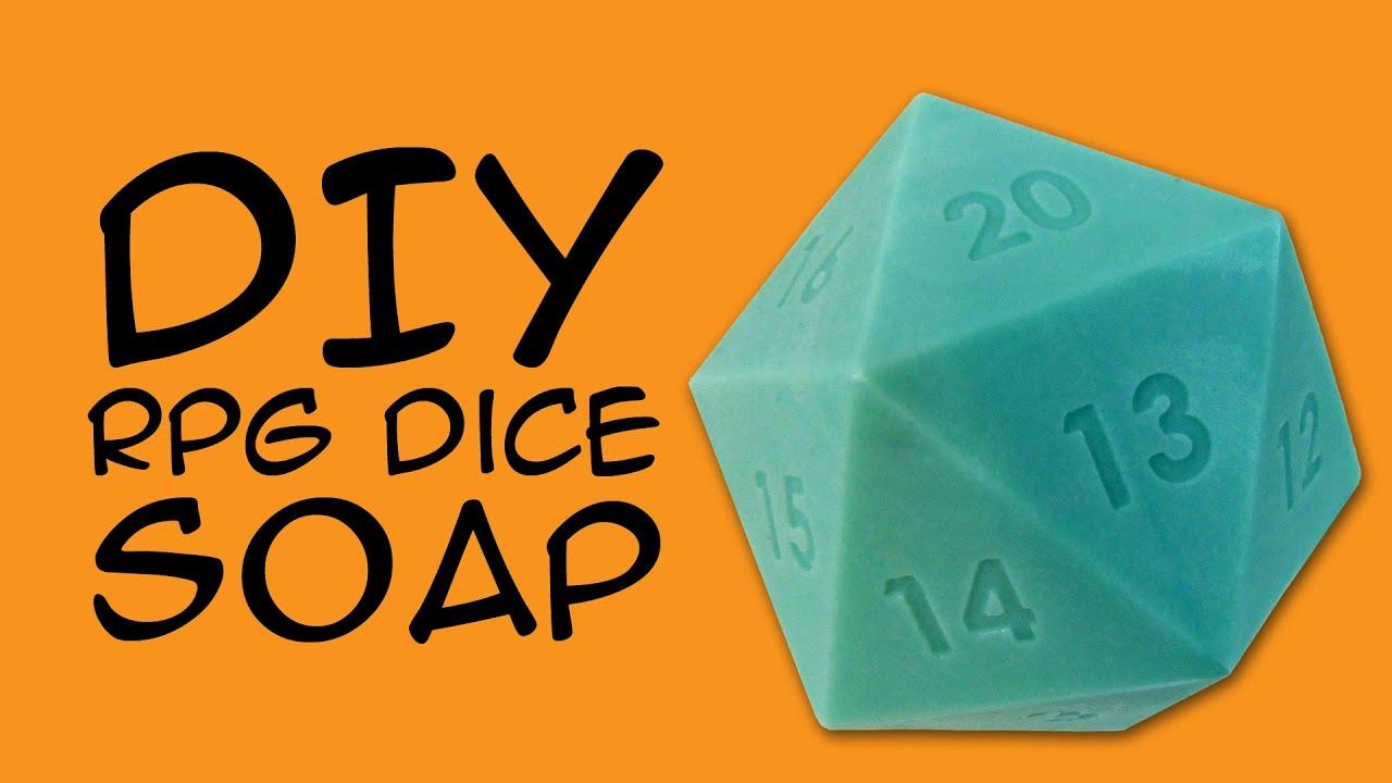 DIY SOAP - d20 RPG Dice Soap Craft: (RPG Fandom) a CraftyMcFangirl com  Tutorial