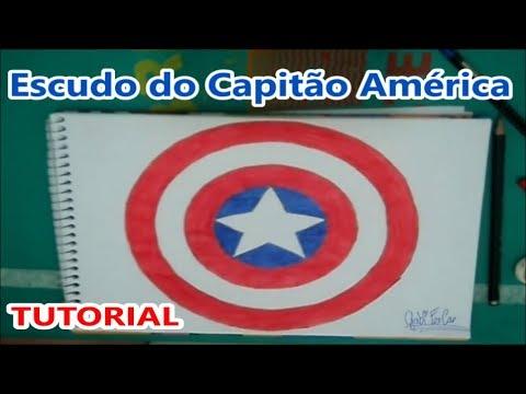Como Desenhar O Escudo Do Capitao America Tutorial Youtube