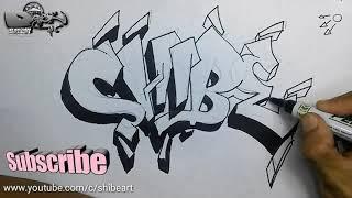 Download Video cara menulis grafiti di kertas | tulisan grafiti nama MP3 3GP MP4