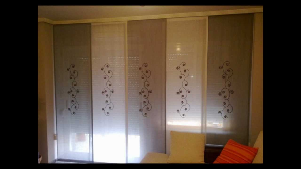Cortinas vamar colecci n de paneles japones youtube for Precio cortinas salon