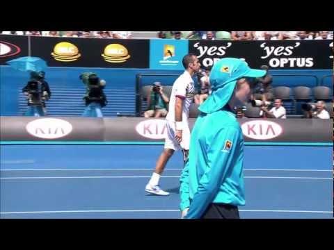 Radek Stepanek Throws Novak Djokovic A Bum Shot | Australian Open 2013