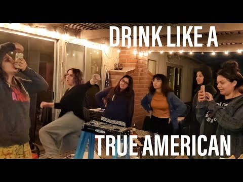 TRUE AMERICAN DRINKING GAME - New Girl (How To & Gameplay)