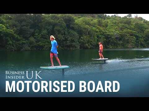 This surfboard can 'fly' over the water