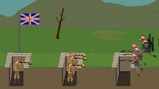 Pixel Trenches: World War 1 Gameplay