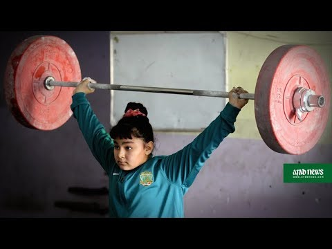 Iraq's girl weightlifters help their parents pay rent