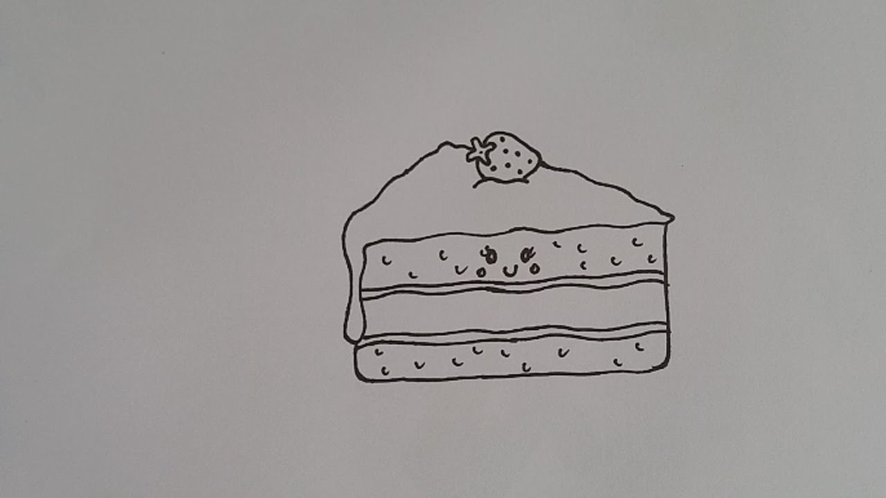 How To Draw Cartoon Cake Slice For Kids Easy And Simple