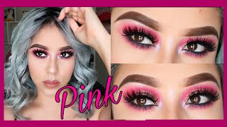 Maquillaje rosa con glitter | PINK MAKEUP