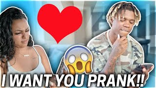 "TEXTING ""I WANT YOU"" PRANK ON CARMEN!!!😍**HILARIOUS**"